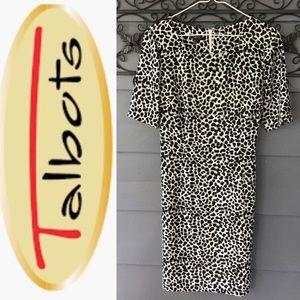 Talbots Dress Black/White Print 10P